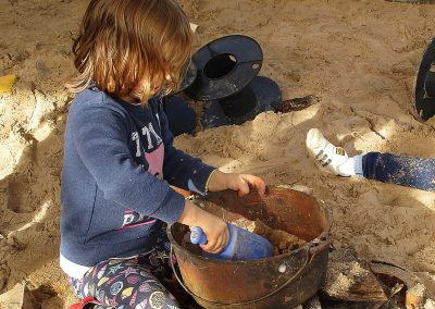 Child playing in the sandpit